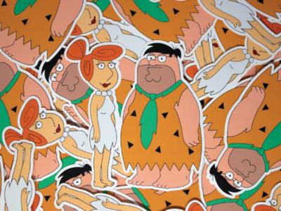 Peter & Lois Griffin X Fred & Vilma Flintstone