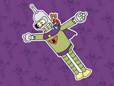 Bender & Fry X Frankenstein Jr & Buzz Conroy