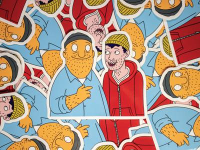 Teddy X Todd Stickers