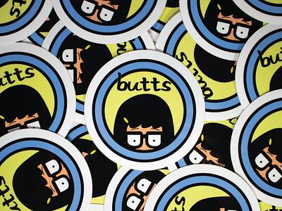 Tina Belcher X Daria Stickers tina belcher daria butts jane lane bobs burgers smash mashup mashups stickers cartoons illustration vector