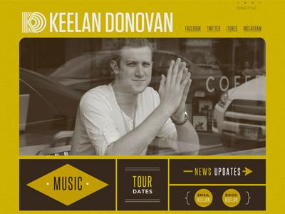 Keelan Donovan Website
