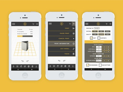 Brew Print app by Corinne Alexandra on Dribbble