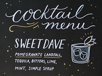 NYE Cocktail Menu