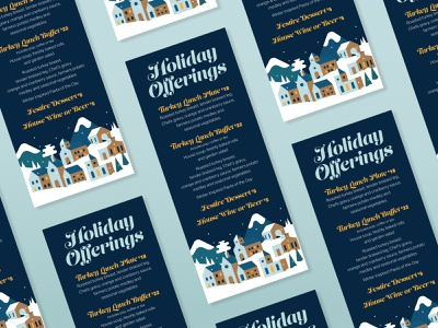 Holiday Menu flat layoutdesign layout menu card restaurant menu design menu vector illustration design