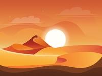 Desert landscape desert grainy grain vector illustration design