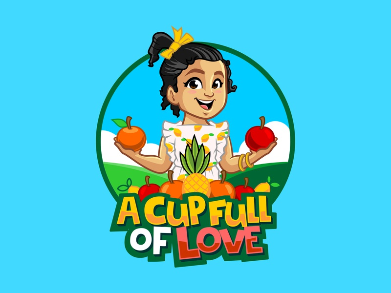 a cup full of love mascot design logo mascot character logodesign mascot design vector illustration characterdesign branding