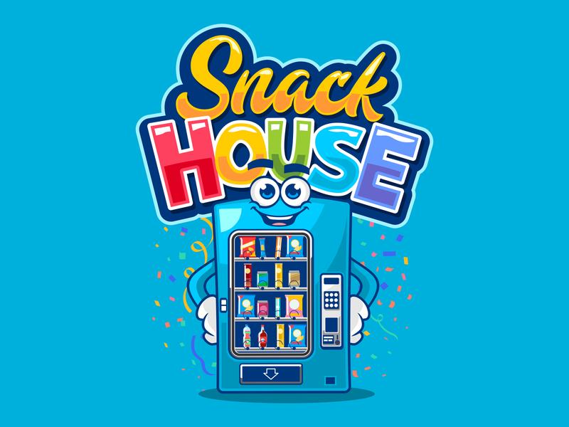 snack house mascot design logo mascot character logodesign mascot design vector illustration characterdesign branding