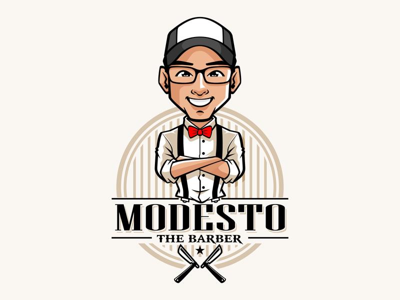 modesto clothing brand mascot logo mascot design logo mascot character logodesign mascot design vector illustration characterdesign branding