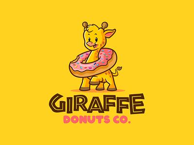giraffe donuts co. mascot design logo mascot character logodesign mascot design illustration vector characterdesign branding