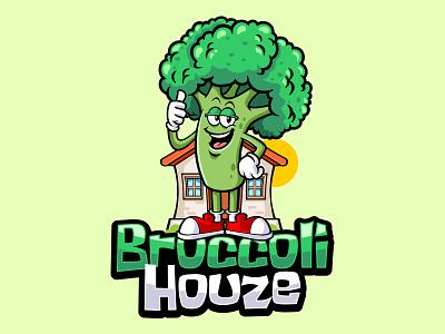 broccoli houze logo logodesign design mascot illustration branding vector characterdesign