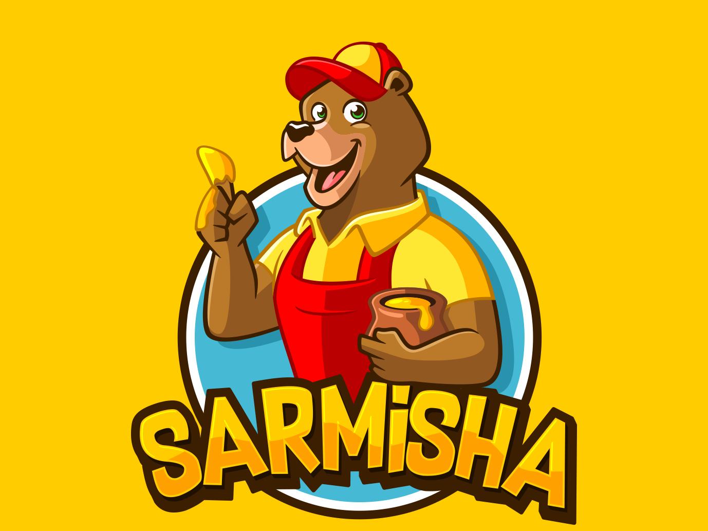 sarmisha mascot design typography pictoftheday clothing brand mascot design mascot character logodesign vector mascot logo illustration design characterdesign branding