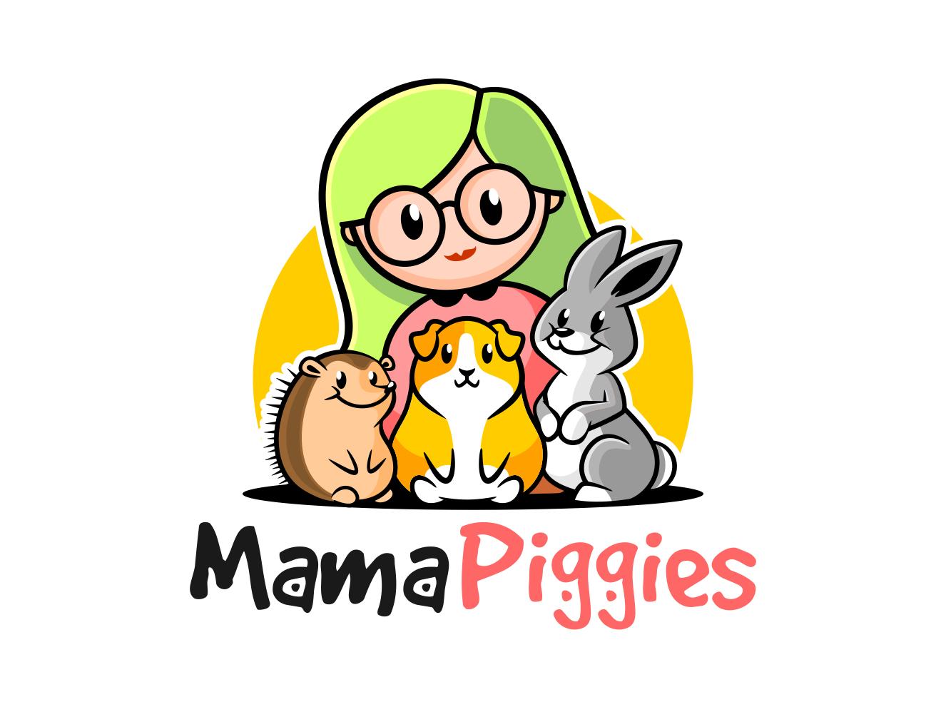 mama piggies baby app clothing clothing brand mascot logo mascot design mascot character logodesign vector mascot logo illustration design characterdesign branding