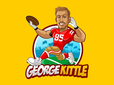 george kittle mascot character pictoftheday clothing brand design illustration logodesign vector mascot branding characterdesign