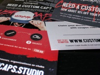 Custom Caps Flyers and Business Cards