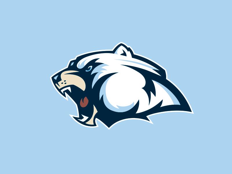 Bear Head logo dynamic profile vector fierce growl polar mascot head bear