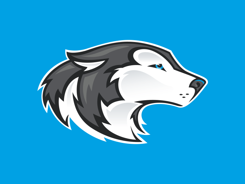 Husky Head Mascot puppy passive profile wolf dog mascot husky