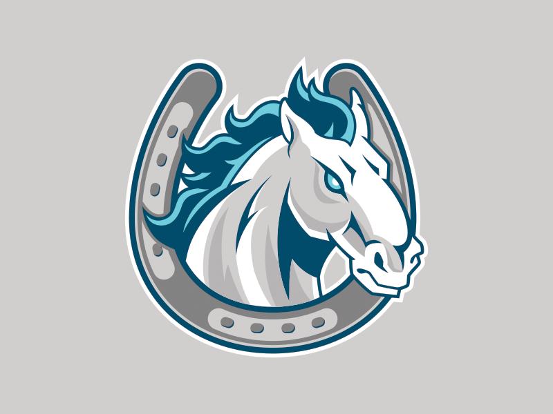 Horse Horseshoe Mascot logo vector head mascot horseshoe horse