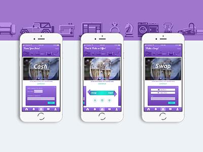 UI for Swap Left Classifieds App swap screens design ux ui app classified