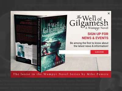 Horror Novel Modal mockup book horror wellofgilgamesh calltoaction subscribe novel ux form signup modal challenge dailyui ui
