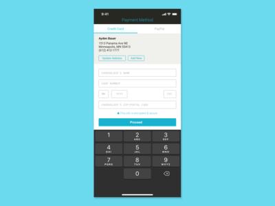 DailyUI 002, Credit Card Checkout