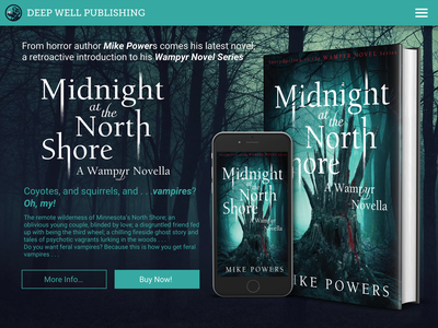 Daily Ui 003, Landing Page fiction novel vampire horror iphone calltoaction page landing book dailyui ux ui
