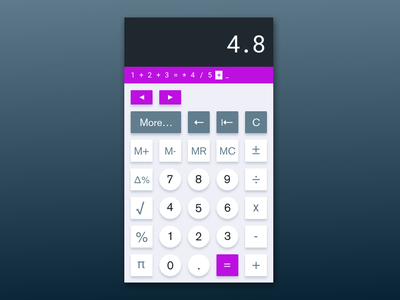 #DailyUI 004, Calculator lessbutbetter dieterrams design calculator ux dailyui ui