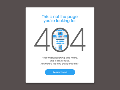 """Daily UI, 008 """"404 Page"""""""