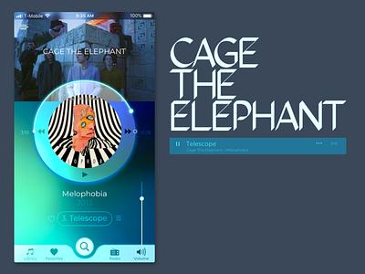 Daily UI 009, Music App dailyuichallenge cagetheelephant musciapp ux ui dailyui
