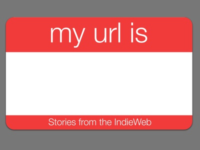 My Url Is Podcast Artwork logo design