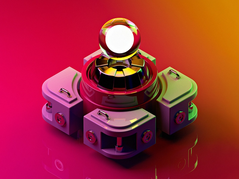 Generator thing colorful mechanics cyberpunk glass technology electronics hardsurface blender lowpoly cinema4d 3d art motiongraphics inspiration digitalart design