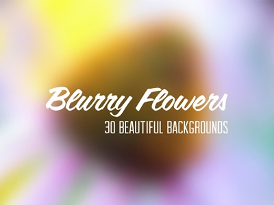 Blurry flower backgrounds