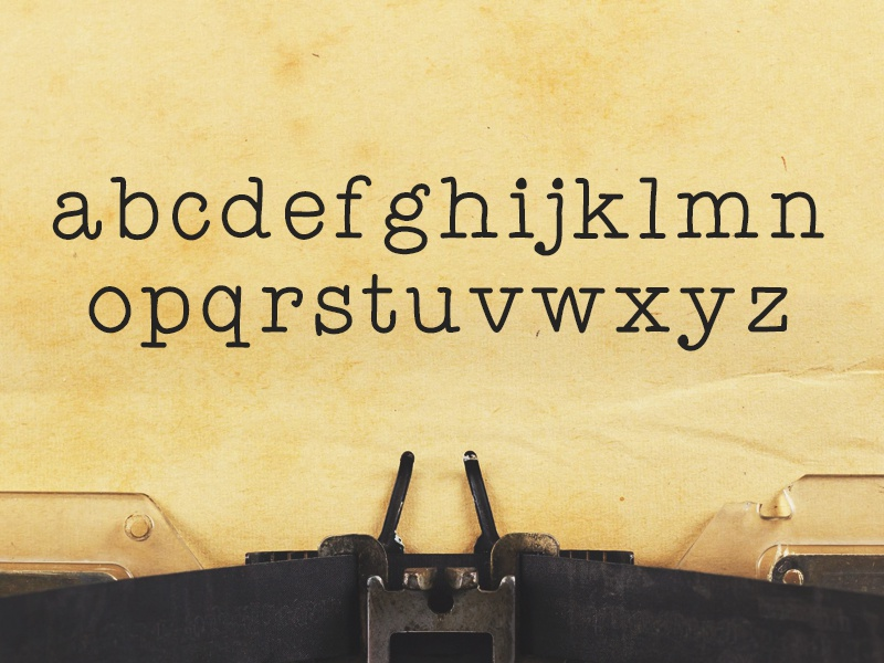 Detective - Typewriter Font by Inspirationfeed on Dribbble