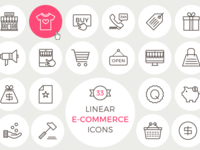 33 Free Linear E Commerce Icons