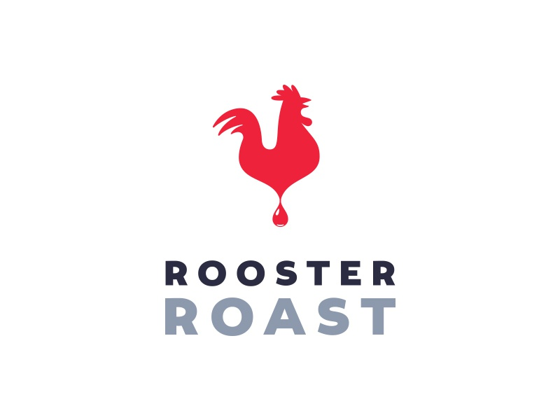 Rooster Roast breakfast morning shop drip inspiration idea brew logo rooster coffee cafe