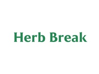 Herb Break - Live a conscious, clean, and healthy lifestyle. timeless modern serif benefits nutrition green website health logo herb