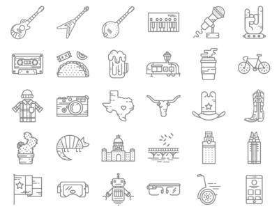 SXSW Line Icons