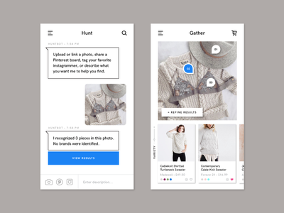 Exploring the Online Retail Experience handsome app social ux ui mobile tagging chatbot shopping fashion retail