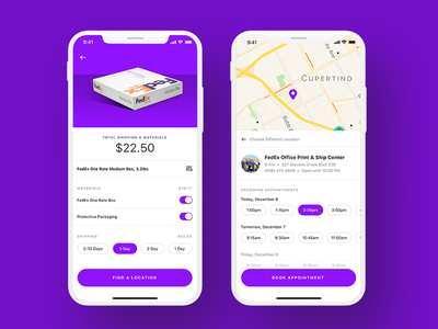 FedEx Exploration ux ui delivery mail shipment fedex scheduling shipping