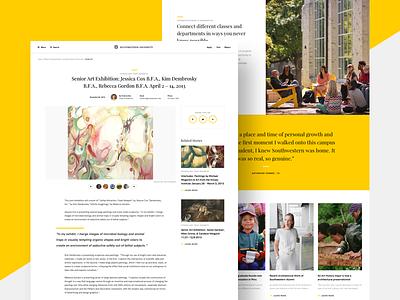 Southwestern University college yellow template academic school blogger gallery blog web design university