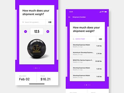 Fedex Weight Estimator iphone x ux ui delivery mail shipment fedex estimate shipping