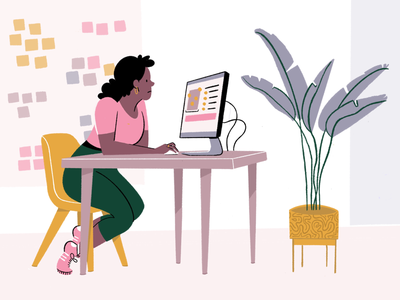 UX Synthesis synthesis ux design ux designer people person office plant woman editorial illustration editorial illustration