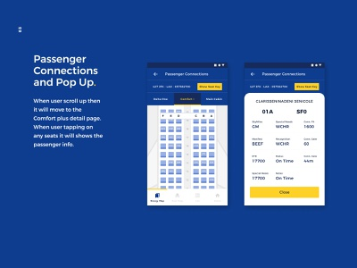 Passenger Connections airplane flight app uxui screens app design xddailychallenge uidesign ui