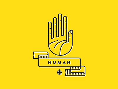 Human single stroke seal human yellow illustration icon icons flat icon