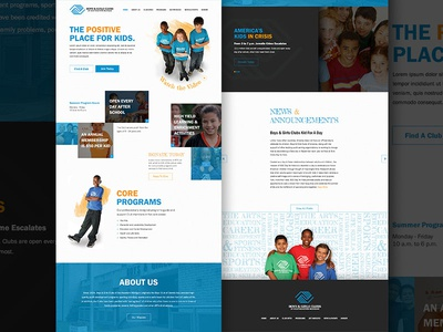 Boys & Girls Club Website Mockup