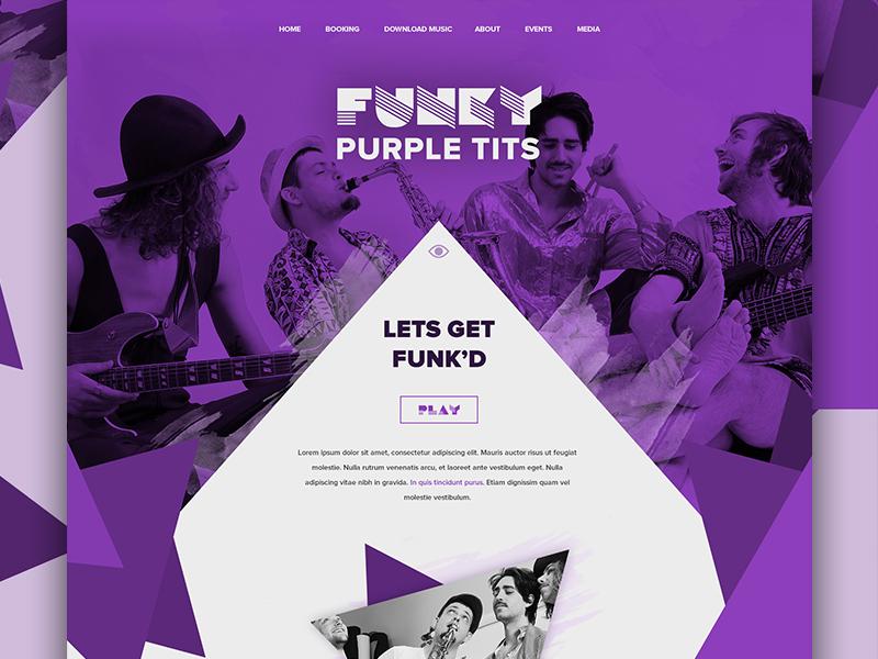 Funk Band Website Design band website web design responsive wordpress soundcloud triangles css3 html5 sass funk music