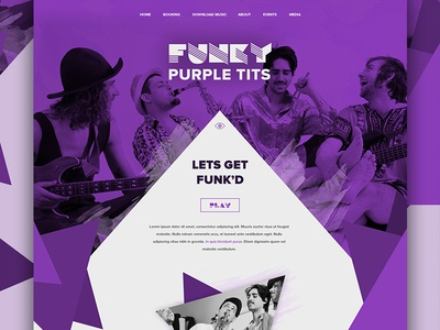 Funk Band Website Design