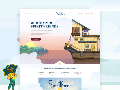 Spiritfarer concept web design video game