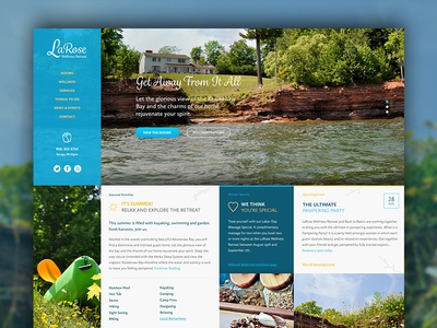 Retreat Website In The Works web design responsive modular css3 wordpress html5 bed and breakfast hospitality retreat web nature