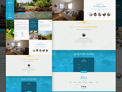 Wellness Retreat Homepage web design responsive modular css3 wordpress html5 bed and breakfast hospitality retreat web nature hotel