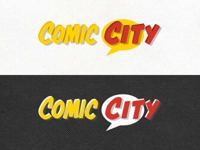 Comic City Logo comic city logo comic book design speech bubble branding michigan detroit pontiac